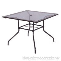 Square Dining Table Deck Patio Yard Garden Outdoor Furniture Glass Top 37 1/2 - B077GH3WMF