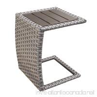 TK Classics Oasis Side Table Grey Stone - B01N4EGTC6