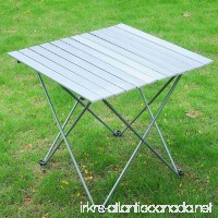 27L x 26-1/2W Roll Up Portable Folding Aluminum Table Lightweight Outdoor Garden Camping Picnic Desk With Bag - B00P1ZAOUA