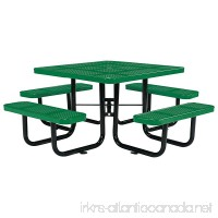 "46"" Square Picnic Table  Surface Mount  Green - B01BHE9WBA"