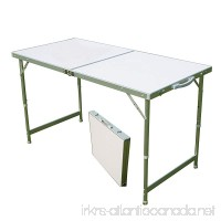 AceLife Aluminum Folding Camping Table with Carrying Handle  Portable and Height Adjustable - B01MSAWWGN