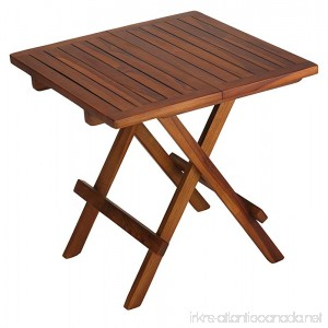 Bare Decor Ravinia Folding Teak Small Table Oiled Finish - B0139K63LC