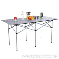 COSTWAY 55 Roll Up Portable Folding Camping Square Aluminum Picnic Table w/Bag New - B06X3XSLQG