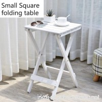 Folding table YXX- Outdoor Small Wood Flower Stand Floor-standing Wood Plant Storage Shelf Indoor (Color : White) - B07DS1BDZG