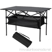 Folinstall Portable Tables - Picnic Table with Hammock Style Storage Basket & Carry Bag - Collapsible Table Supports 154.32 lbs(70 kg) - B075NLC1ST