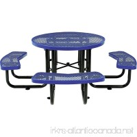 Global Thermoplastic Coated Expanded Metal Picnic Table - 46 Diameter - Blue - Blue - B0199RKZKE