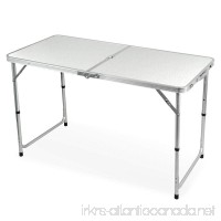 Gotobuy 4 Foot Aluminum Folding Dining Table Outdoor Camping Picnic Table White - B01MV7Y12R