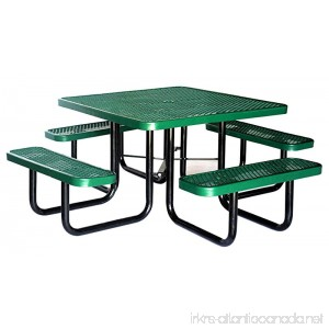 Lifeyard Heavy Duty Metal Mesh Thermopastic Picnic Table Square 46inch Green - B01EJBYU0Q