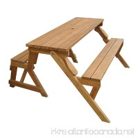Merry Garden Interchangeable Picnic Table and Garden Bench - B000MITWM2