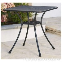 "New 28"" Black Steel Bistro Table In/Outdoor Cafe Patio Dining Metal Mesh Top - B07DZYQYXX"
