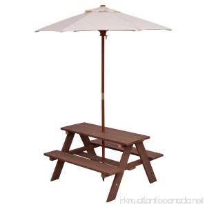New 4 Seat Kids Picnic Table Bench w/ Folding Umbrella Garden Yard Children Outdoor - B074674W8D