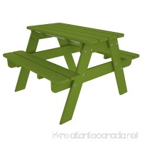 POLYWOOD Outdoor Furniture Kid Picnic Table Lime-Recycled Plastic Materials - B001VNCJIQ