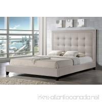 Baxton Studio Hirst Platform Bed  King  Light Beige - B00PN9YS1A