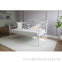 DHP Victoria Daybed Metal Frame Multifunctional Includes Metal Slats Twin Size White - B00HB57EQA