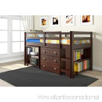 Donco Kids 760-CP Low Study Loft Bed Dark Cappuccino - B012B6497K