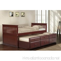 Merax Captain's Bed with Trundle Bed and Drawers Twin (Espresso) - B07DGD63CQ