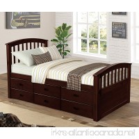 Merax. Noah Twin Size Platform Storage Bed Solid Wood Bed with 6 Drawers (Espresso) - B07C9S1C68