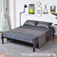 Metal Bed Frame Steel Queen Size Decor Iron Base with Headboard and Footboard Legs Platform Slats Cover Black 630 (Queen) - B07D5T2MVZ