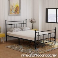 Metal Bed Frame with Steel Headboard and Footboard Slat Platform Mattress Foundation Double beds Box Spring No Assembly Double Beds Spring Replacement for Kids Adult Victorian Style Black Full Size - B07BZDRB9W