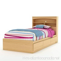 South Shore Furniture Step One Collection Twin Mates Bed 39 Natural Maple - B002VECNR6