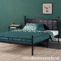 Zinus Metal Platform Bed/Bed Frame with Faux Leather Square Stitched Upholstered Headboard  Twin XL - B07959F4FQ