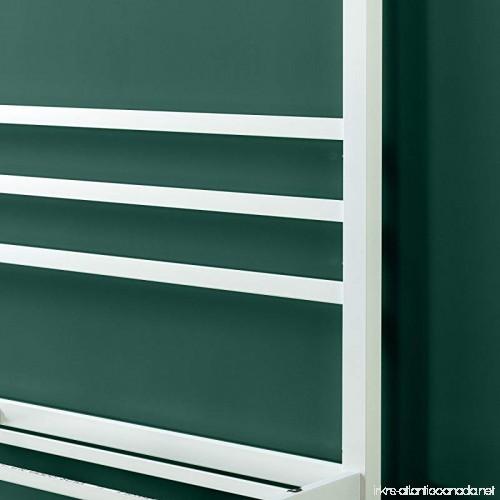 Zinus White Metal Framed Canopy Four Poster Platform Bed