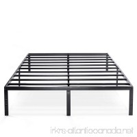 Best Price Mattress Queen Bed Frame - 14 Inch Metal Platform Beds w/Heavy Duty Steel Slat Mattress Foundation (No Box Spring Needed) Black - B07CVQNKP5