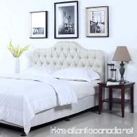Divano Roma Furniture Classic Deluxe Tufted Ivory Fabric Headboard (Queen) - B01MQDVZR0