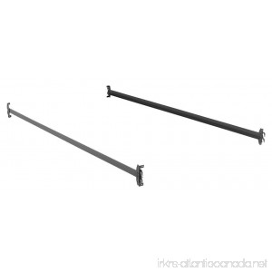 Fashion Bed Group 75-Inch 140H Black Bed Frame Side Rails with Hook-On Brackets for Headboards and Footboards Twin/Full - B01LX10VN8