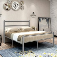 Giantex Silver Full Size Metal Bed Frame Platform Headboard 10 Legs Furniture Bedroom (Full  Sliver) - B01M7R6V4R
