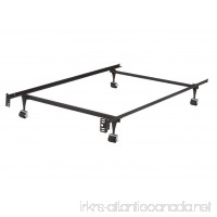 King's Brand Furniture - Heavy Duty Metal Twin Size Bed Frame With Rug Rollers & Locking Wheels - B00ABGSTY2