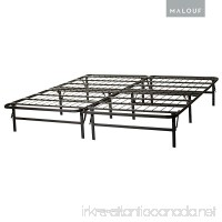 MALOUF STRUCTURES by HIGHRISE Folding Metal Bed Frame 13 Inch High Bi-Fold Platform Bed Base and Box Spring - B000ZQALJY