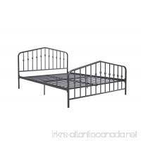 Novogratz Bushwick Metal Bed Modern Design Queen Size - Grey - B01LA7BWZS