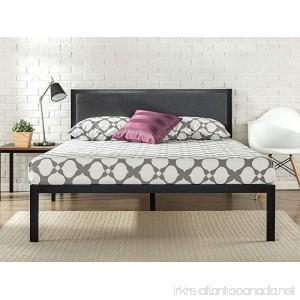 Zinus 14 Inch Platform Metal Bed Frame with Upholstered Headboard Mattress Foundation Wood Slat Support King - B06XGQ8D2P