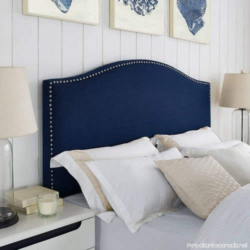 Better Homes And Gardens Grayson Linen Headboard With Nailheads