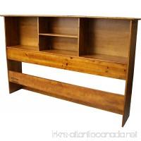 Epic Furnishings Stockholm Bamboo Solid Bookcase Headboard  King-size  Medium Oak - B00MXXTN28