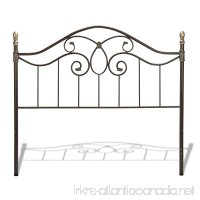 Fashion Bed Group Dynasty Headboard with Arched Metal Grill and Scalloped Finial Posts  Autumn Brown Finish  Queen - B002HWRDR2