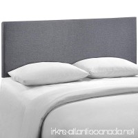 Modway Region Upholstered Linen Headboard Queen Size In Smoke - B00O8WN6F2