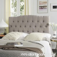 Safavieh Axel Taupe Linen Upholstered Tufted Headboard (Queen) - B00F86FLNM