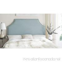 Safavieh Denham Sky Blue Linen Blend Upholstered Headboard - Silver Nailhead (King) - B00OPY8V1C