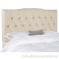 Safavieh Mercer Collection Axel Off-White Hemp Linen Tufted Headboard (King) - B0753NJ88F