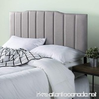 Zinus Upholstered Channel Stitched Headboard in Light Grey  Queen - B079C6Y4MJ