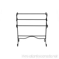 Benzara BM72794 Spacious Metal Blanket Rack with Three Bars  Black - B07DTD9GJL