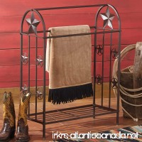 Black Forest Decor Metal Lone Star Rustic Quilt Rack - Southwestern Furniture - B00NQGQQAI